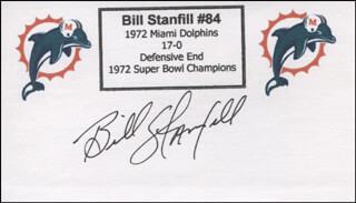 BILL STANFILL - PRINTED CARD SIGNED IN INK