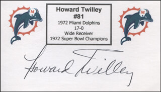 HOWARD TWILLEY - PRINTED CARD SIGNED IN INK