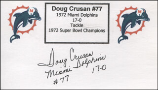 DOUG CRUSAN - PRINTED CARD SIGNED IN INK