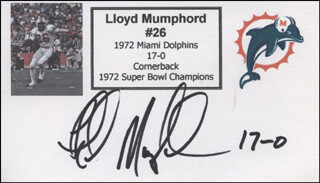 LLOYD MUMPHORD - PRINTED CARD SIGNED IN INK