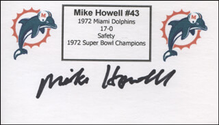 MIKE HOWELL - PRINTED CARD SIGNED IN INK