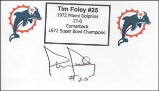 TIM FOLEY - PRINTED CARD SIGNED IN INK