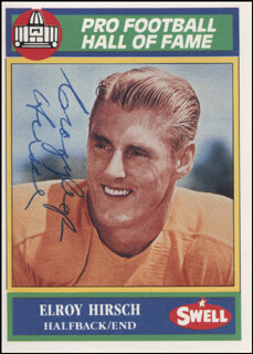 ELROY CRAZY LEGS HIRSCH - TRADING/SPORTS CARD SIGNED