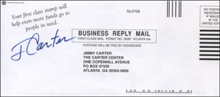 PRESIDENT JAMES E. JIMMY CARTER - ENVELOPE SIGNED