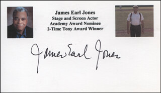 JAMES EARL JONES - PRINTED CARD SIGNED IN INK
