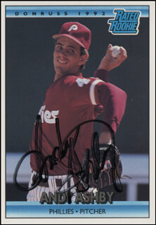 ANDY ASHBY - TRADING/SPORTS CARD SIGNED