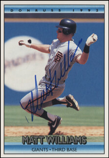 MATT THE BAT WILLIAMS - TRADING/SPORTS CARD SIGNED