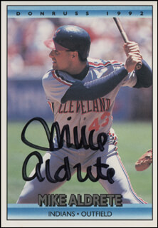 Autographs: MIKE ALDRETE - TRADING/SPORTS CARD SIGNED