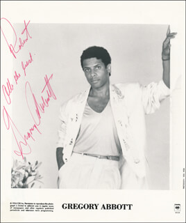 GREGORY ABBOTT - INSCRIBED PRINTED PHOTOGRAPH SIGNED IN INK