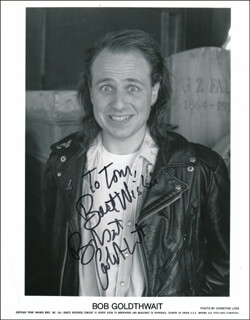 ROBERT BOBCAT GOLDTHWAIT - INSCRIBED PRINTED PHOTOGRAPH SIGNED IN INK