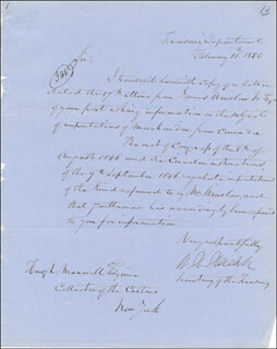 WILLIAM M. MEREDITH - MANUSCRIPT LETTER SIGNED 02/11/1850