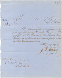 WILLIAM M. MEREDITH - MANUSCRIPT LETTER SIGNED 04/16/1850