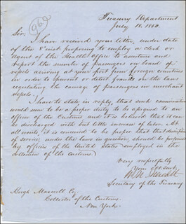 WILLIAM M. MEREDITH - MANUSCRIPT LETTER SIGNED 07/18/1850