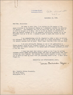FRANCES PARKINSON KEYES - TYPED LETTER SIGNED 09/16/1936