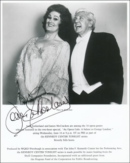 DAME JOAN SUTHERLAND - PRINTED PHOTOGRAPH SIGNED IN INK