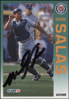 MARK SALAS - TRADING/SPORTS CARD SIGNED