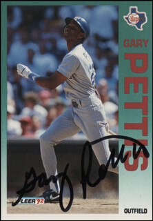 GARY PETTIS - TRADING/SPORTS CARD SIGNED