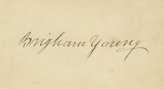 BRIGHAM YOUNG - AUTOGRAPH