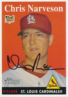 Autographs: CHRIS NARVESON - TRADING/SPORTS CARD SIGNED