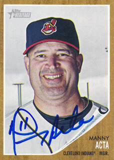 Autographs: MANNY ACTA - TRADING/SPORTS CARD SIGNED
