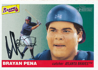 BRAYAN PENA - TRADING/SPORTS CARD SIGNED
