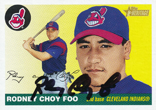 RODNEY CHOY FOO - TRADING/SPORTS CARD SIGNED