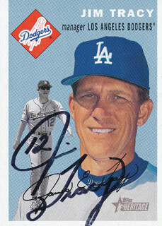 JIM TRACY - TRADING/SPORTS CARD SIGNED