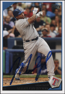 MARLON BYRD - TRADING/SPORTS CARD SIGNED