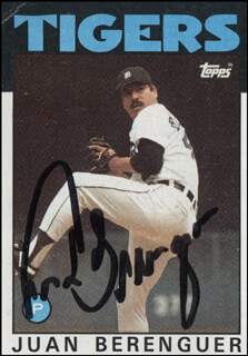 JUAN BERENGUER - TRADING/SPORTS CARD SIGNED