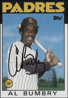 AL BUMBRY - TRADING/SPORTS CARD SIGNED