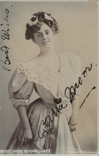 CARRIE MOORE - PICTURE POST CARD SIGNED CIRCA 1915