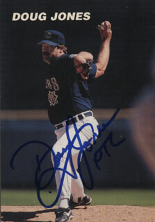 DOUG JONES - TRADING/SPORTS CARD SIGNED