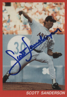 SCOTT SANDERSON - TRADING/SPORTS CARD SIGNED