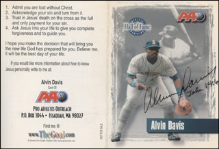 ALVIN DAVIS - TRADING/SPORTS CARD SIGNED