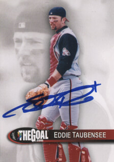 EDDIE TAUBENSEE - TRADING/SPORTS CARD SIGNED
