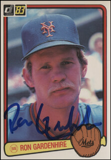 Autographs: RON GARDENHIRE - TRADING/SPORTS CARD SIGNED