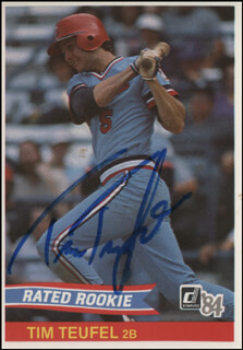 TIM TUFF TEUFEL - TRADING/SPORTS CARD SIGNED