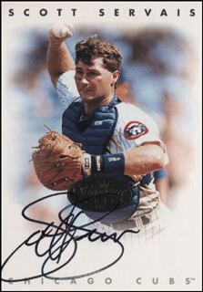 SCOTT SERVAIS - TRADING/SPORTS CARD SIGNED