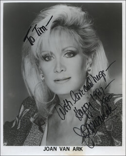 JOAN VAN ARK - INSCRIBED PRINTED PHOTOGRAPH SIGNED IN INK
