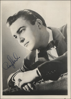GLENN MILLER BAND (RAY EBERLE) - AUTOGRAPHED SIGNED PHOTOGRAPH