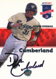 DREW CUMBERLAND - TRADING/SPORTS CARD SIGNED