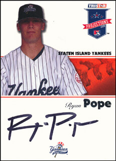 RYAN POPE - TRADING/SPORTS CARD SIGNED