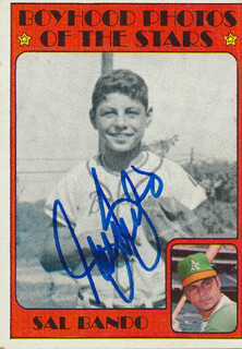 SAL BANDO - TRADING/SPORTS CARD SIGNED