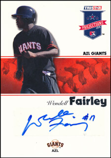 WENDELL FAIRLEY - TRADING/SPORTS CARD SIGNED