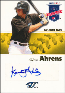 Autographs: KEVIN AHRENS - TRADING/SPORTS CARD SIGNED