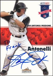 MATT ANTONELLI - INSCRIBED TRADING/SPORTS CARD SIGNED