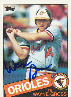 WAYNE GROSS - TRADING/SPORTS CARD SIGNED