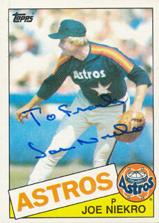 JOE NIEKRO - INSCRIBED TRADING/SPORTS CARD SIGNED