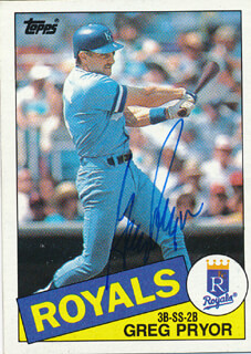 Autographs: GREG PRYOR - TRADING/SPORTS CARD SIGNED