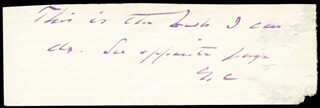 PRESIDENT GROVER CLEVELAND - AUTOGRAPH NOTE SIGNED 08/15/1889